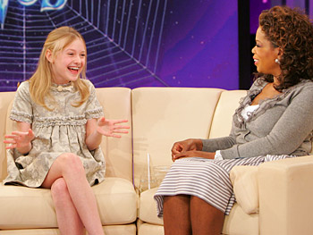 Dakota Fanning and Oprah