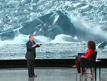 Al Gore discusses the melting ice shelves in Antarctica.