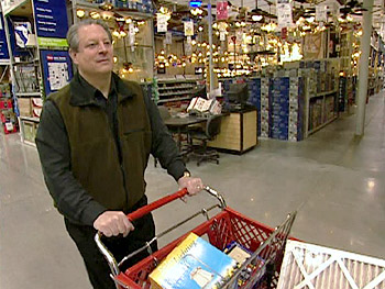 Al Gore shops at Lowe's.
