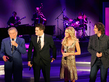 Tony Bennett, Michael Bublé, Carrie Underwood and Josh Groban
