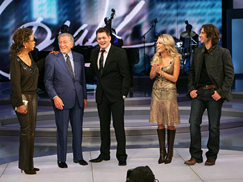 Oprah with Tony Bennett, Michael Bublé, Carrie Underwood and Josh Groban