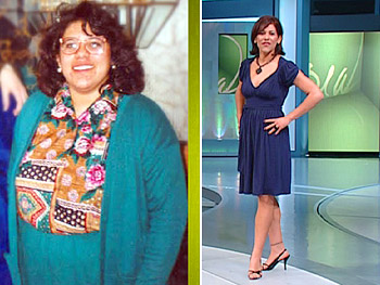 Julee dropped nine dress sizes and 120 pounds.