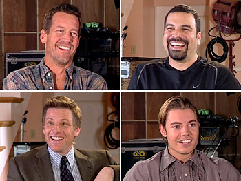 Clockwise from top left: James Denton, Ricardo Chavira, Josh Henderson and Doug Savant
