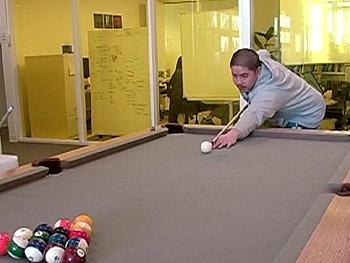 Employees enjoying the perks at Google.