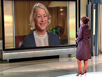 Helen Mirren talks to Oprah via satellite