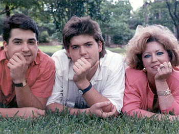 Paula Deen with her two sons, Bobby and Jamie