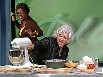 Paula Deen and Oprah stir up trouble in the kitchen.