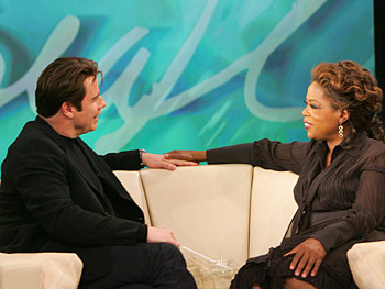 John Travolta and Oprah