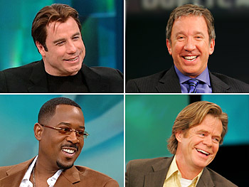 John Travolta, Tim Allen, Martin Lawrence and William H. Macy