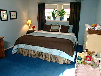Janet and Charlton's new bedroom