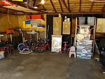 Janet and Charlton now have room to park a car in their garage.