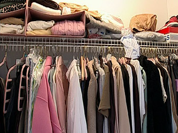 Coordinating your hangers can help you sort clothes.