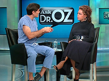 Dr. Oz answers a question about varicose veins.