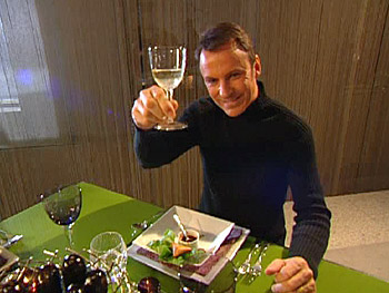 Colin Cowie raises a toast to his guests.