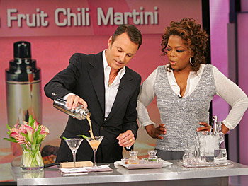 Colin Cowie and Oprah make martinis.