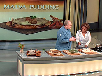 Art Smith and Oprah make Malva Pudding.