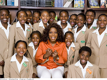 Oprah Winfrey discusses her documentary on the Leadership Academy.
