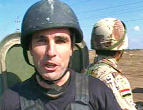 ABC anchor Bob Woodruff on assignment in Iraq