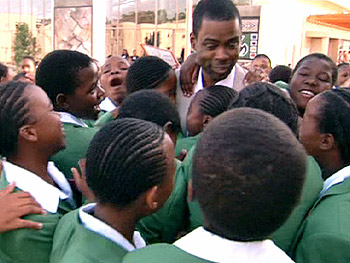 Chris Rock attends the opening of the Leadership Academy in South Africa.