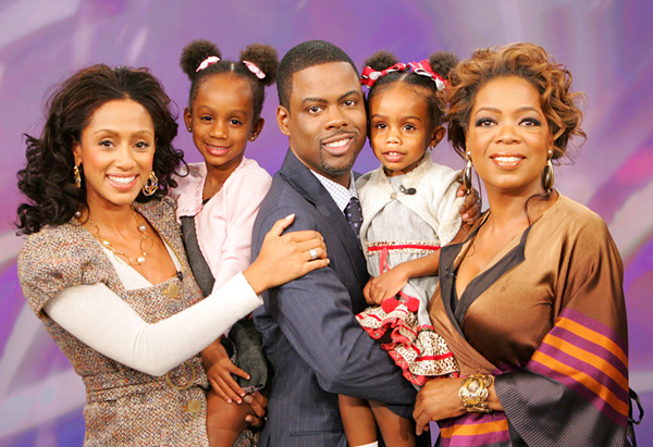 Chris Rock with his family and Oprah