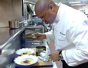 Chef Jeff in the Cafe Bellagio kitchen