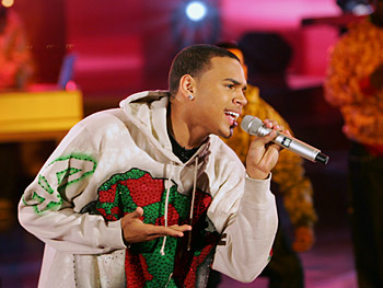 Chris Brown performs a song from his self-titled debut album.