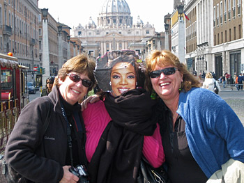 Six friends take Oprah on a trip to Italy.