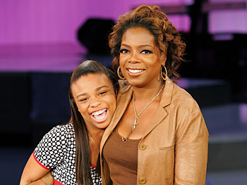 Oprah meets her 12-year-old namesake.