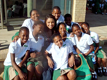 Rachel Smith volunteered at the Oprah Winfrey Leadership Academy for Girls.