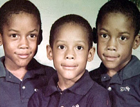 Kenya, Deshon and Warren Martin as children