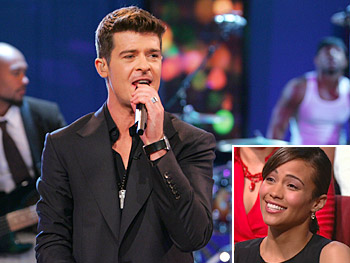 Robin Thicke and his wife, Paula Patton