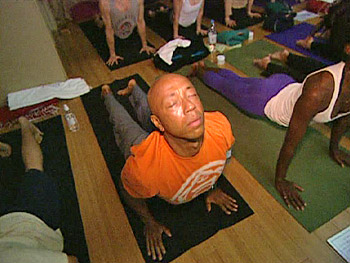 Russell Simmons practices yoga to stay centered.