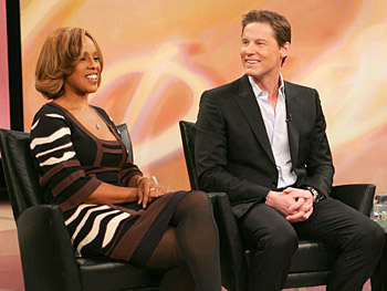 Gayle King and 'Men's Health' magazine's David Zinczenko