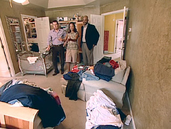 Darius and Kristen's messy master bedroom