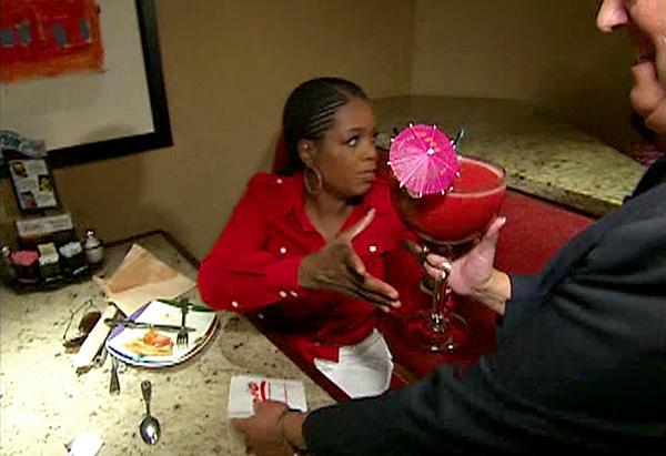 Oprah and her margarita