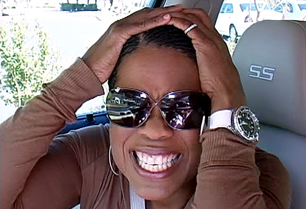 Oprah gets frustrated trying to leave Las Vegas.
