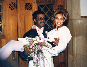 Susan and Ulner on their wedding day