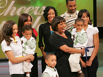 Karen's family surprises her at 'The Oprah Winfrey Show.'