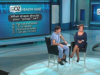 Dr. Oz tells Oprah what poop can tell us.