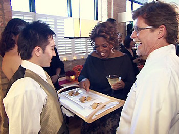 Oprah tries Chef Rick Bayless's Mexican tapas.