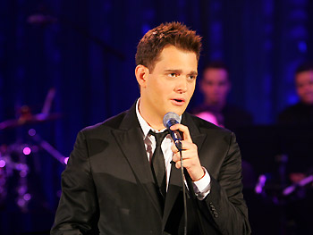 Michael Bublé performs 'I've Got the World on a String.'