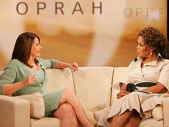 Lorraine Bracco and Oprah
