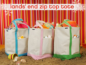 Oprah's favorite beach bag is from Lands' End.