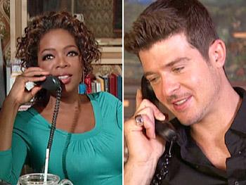 Oprah calls Robin Thicke.