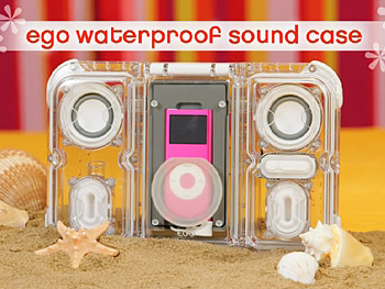 These iPod speakers float in water.