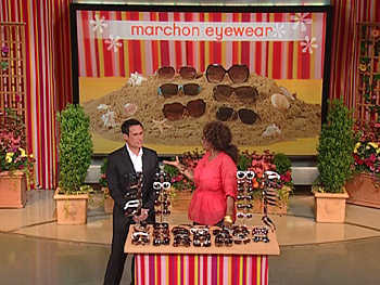 Oprah tries on the hottest sunglasses of the season.