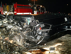 The accident scene