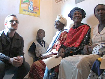 Bono helps people in Africa.