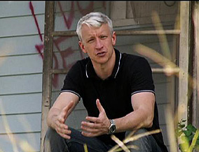 Anderson Cooper in New Orleans
