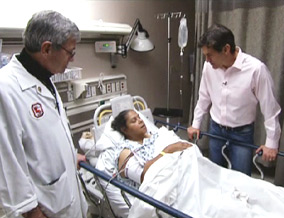 Dr. Oz visits medical facilities in New Orleans.